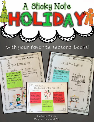 http://www.teacherspayteachers.com/Product/A-Sticky-Note-Holiday-featuring-your-favorite-holiday-books-1003804