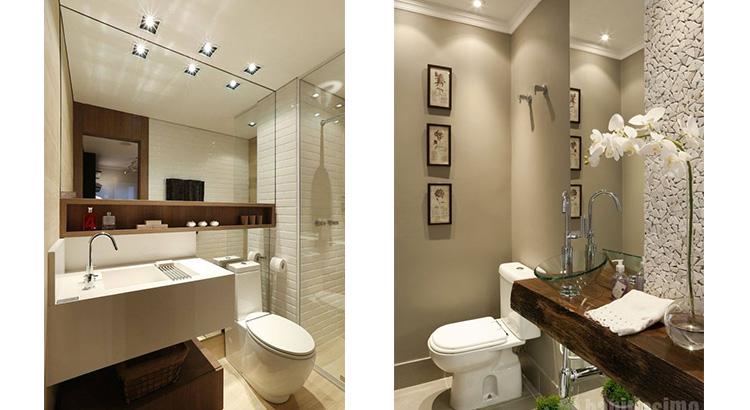 decoração de banheiro e lavabo pequenos