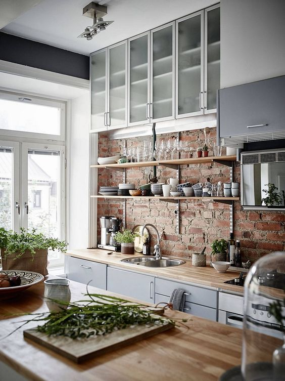 32 Brick Kitchen Back Splash Ideas To