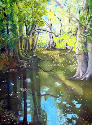 Oil on canvas 40 x 60 2003   Private Collection of Gail McCrae LLB   In barter for Lawyers Fees  Oshawa, Ontario