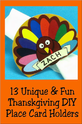 Add any of these thirteen DIY Thanksgiving place card holders to your Thanksgiving table for a fun and unique table decoration. Each place card is easy to put together but adds a lot of flair to your Thanksgiving decor. #thanksgiving #thanksgivingtable #placecard #diy #diypartymomblog