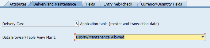 All about SAP: Table Maintainance