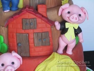 Os Três Porquinhos casa tijolos