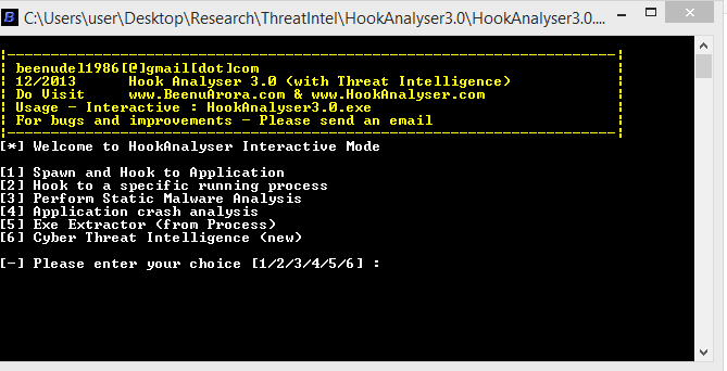 Hook Analyser 3 0] A Freeware Malware Analysis and Cyber