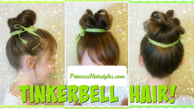 Tinker Bell hair tutorial, faux bangs using your own hair