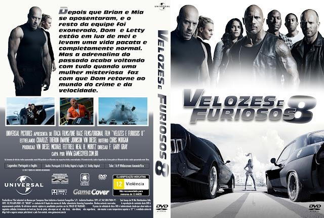 Capa DVD Velozes E Furiosos 8 [Exclusiva]