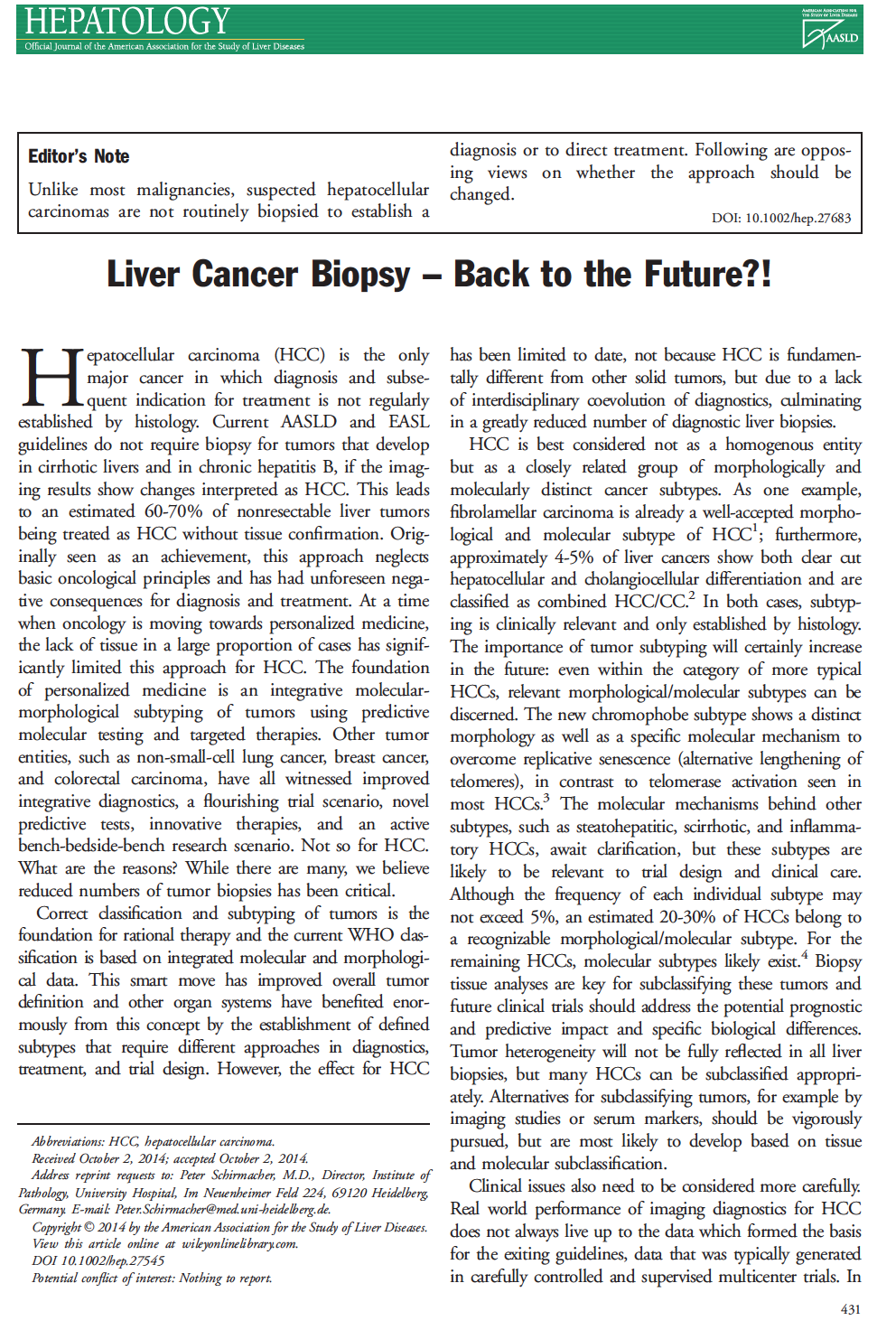Laennec Liver Pathology Society: 2015