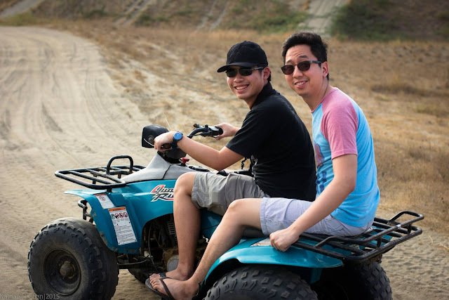 Renz Cheng riding the ATV in Ilocos