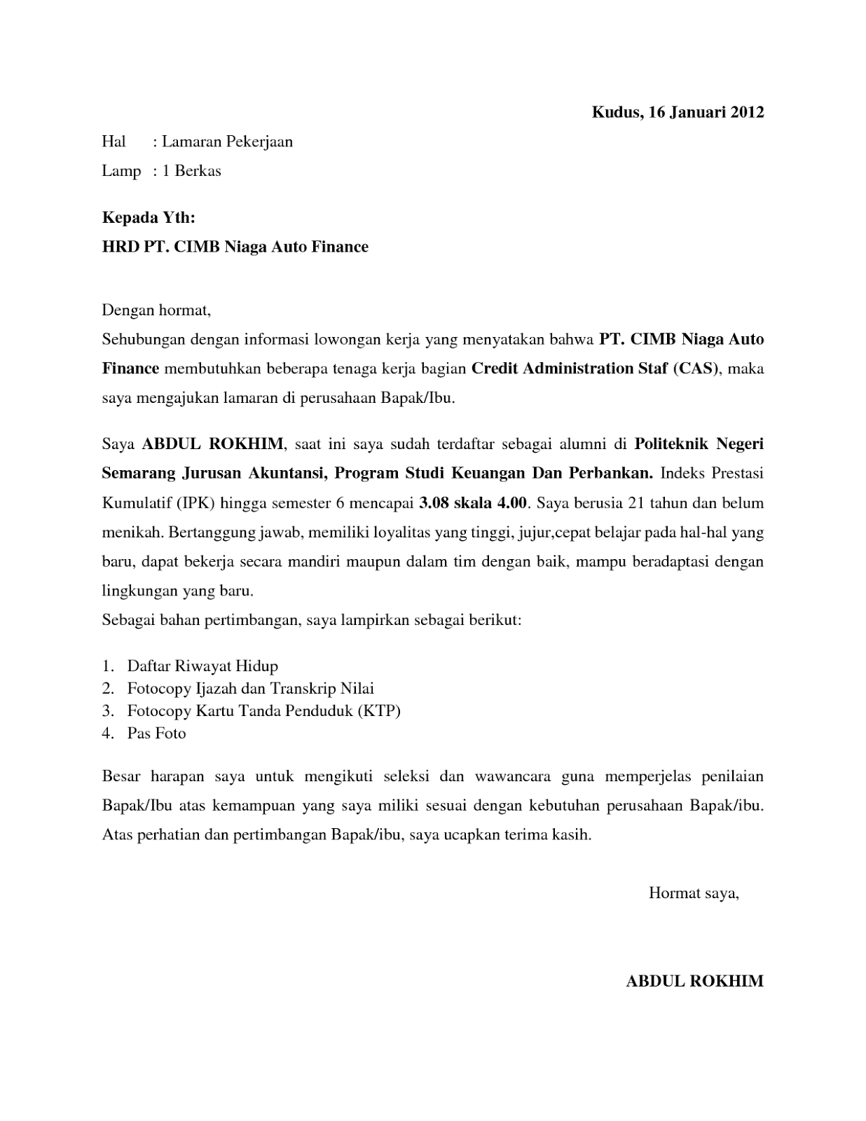 Cv Lamaran Kerja Pdf To Word Pdf Download Pdf Archive