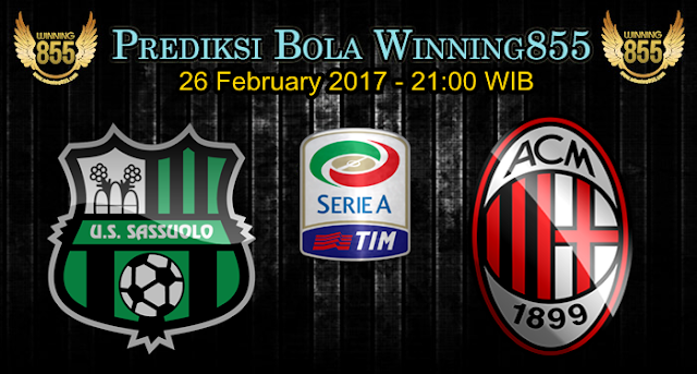 Prediksi Skor Sassuolo vs AC Milan 26 February 2017