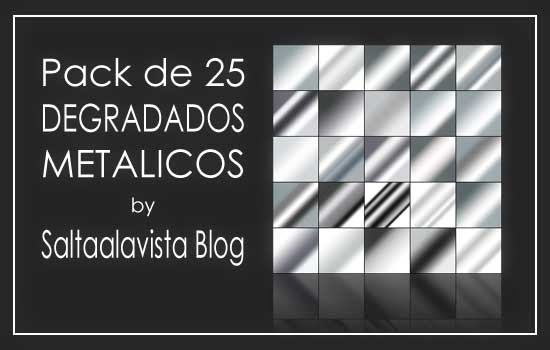 Pack de 25 Degradados Metálicos by Saltaalavista Blog