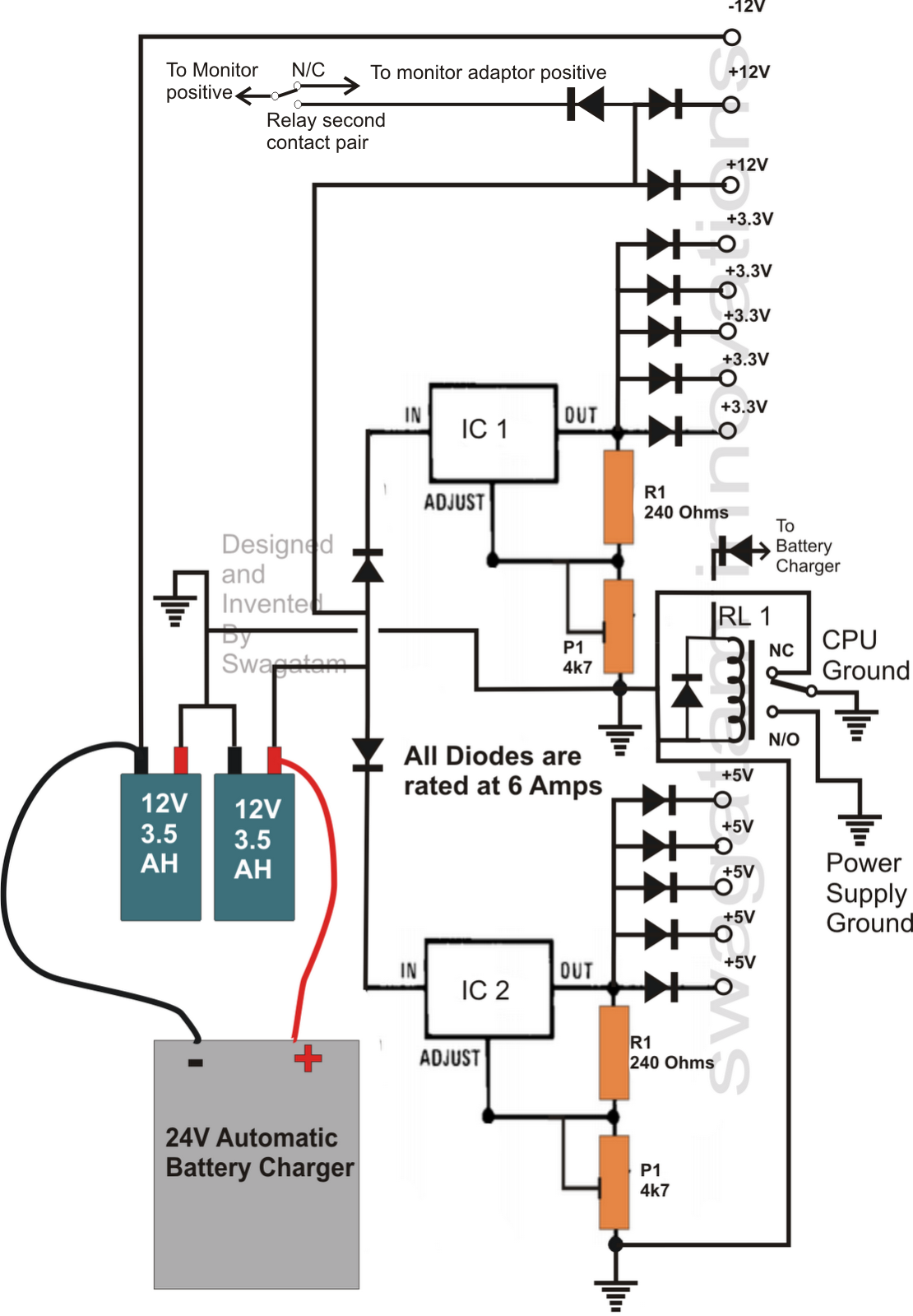 Home Ups Inverter Wiring Diagram 1969 Ford Mustang Transformerless Circuit For Computers Cpu