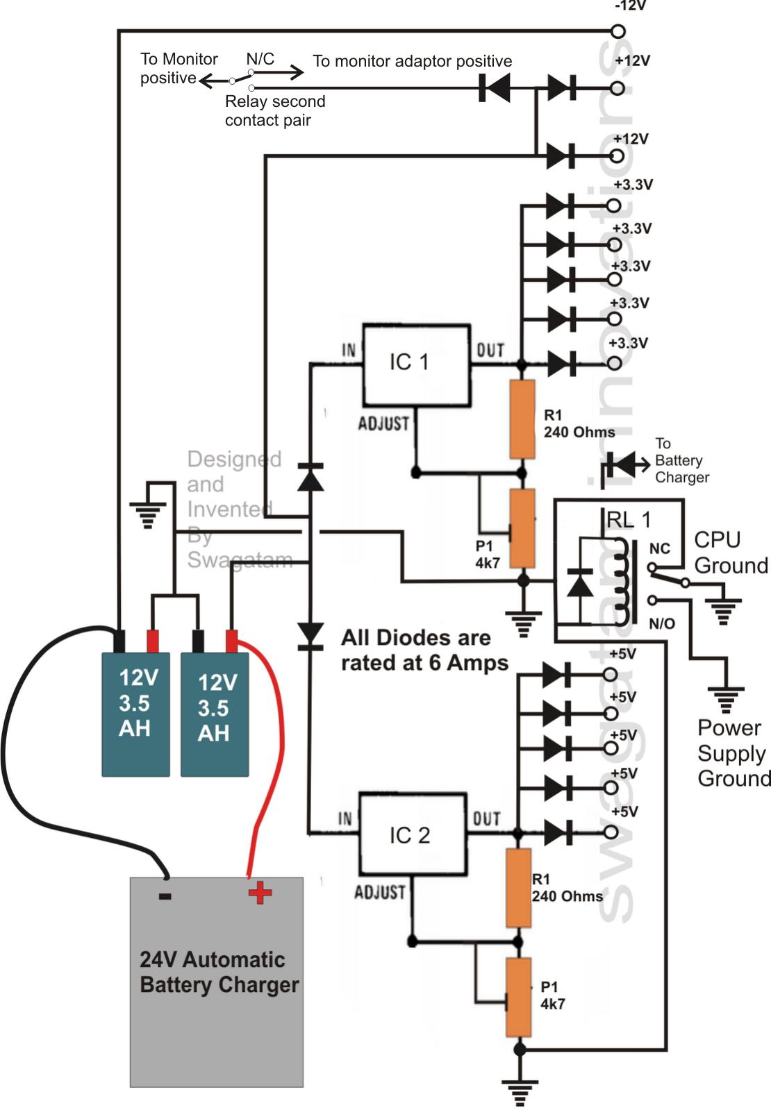 ups wiring diagram 1993 ford ranger fuel pump transformerless circuit for computers cpu