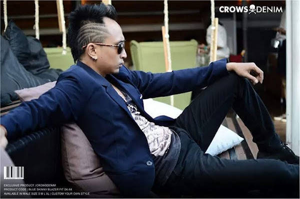 indonesia shop blue skinny suit blazer sk84 compressor