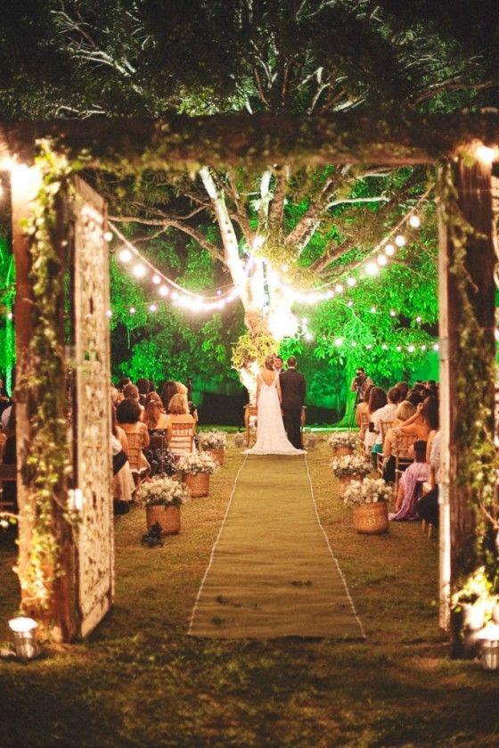 Iluminación espectacular en tu boda velas caminos luces decoración
