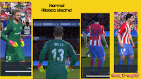 PES 2016 Real Madrid and Atlético Madrid Kits 2016-2017 By Geo_Craig90