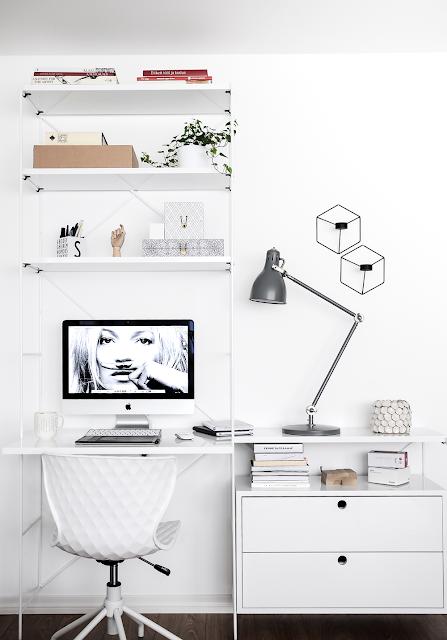 monochrome office
