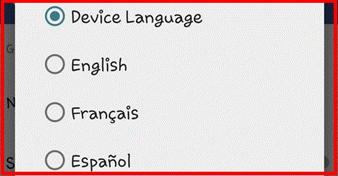 how to change language on facebook app iphone