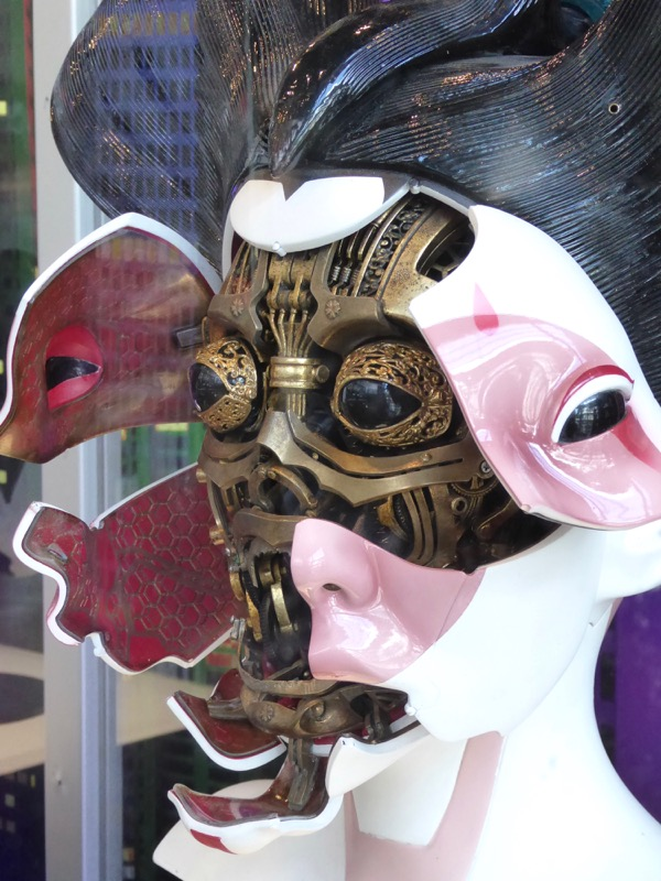 Ghost in the Shell Animatronic Geisha head open face