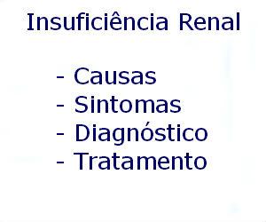 Insuficiência renal causas sintomas diagnóstico tratamento prevenção riscos complicações