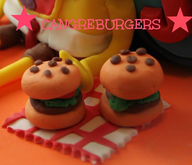tarta-bob-esponja, tarta-fondant, cangreburgers-fondant