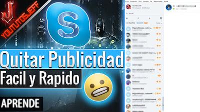 Skype, publicidad, quitar publicidad