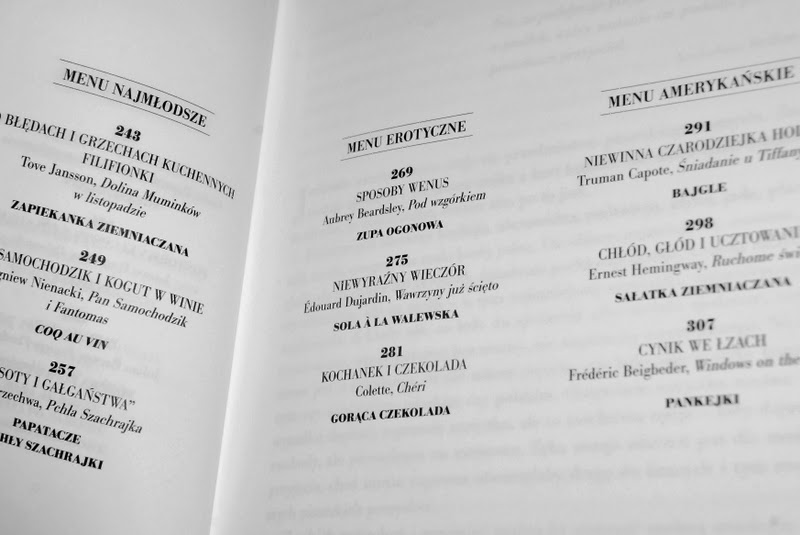 Rozpiska z tematycznymi menu