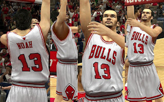 NBA 2K13 Chicago Bulls Home Jersey Mod