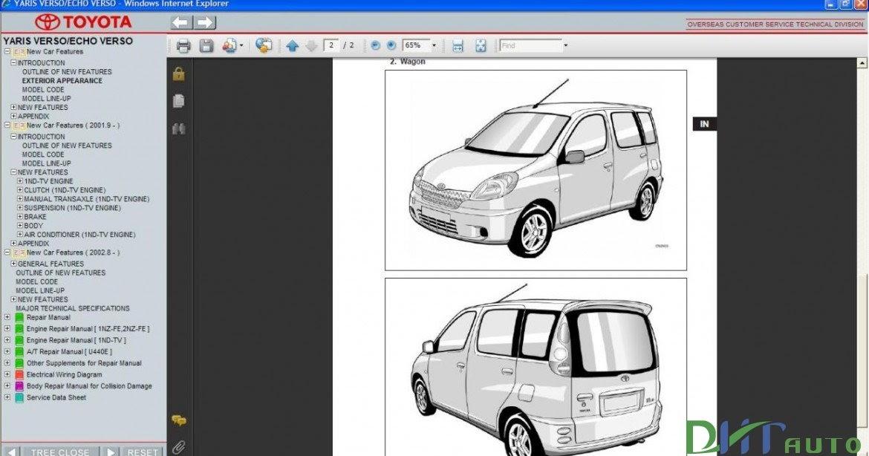 Toyota Yaris Verso    Echo Verso Service  U0026 Repair Manual Update 2005