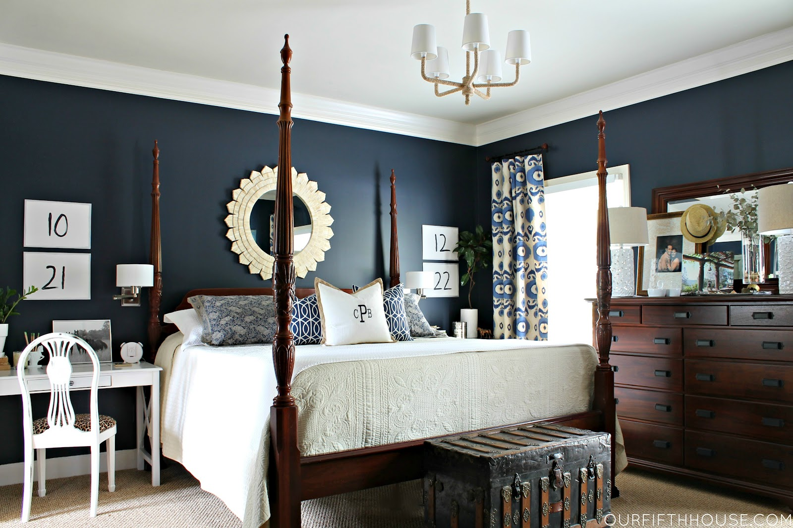 bold bedroom colors. navy bedroom Design Thoughts  Why Not A Bold Wall Color Our Fifth House