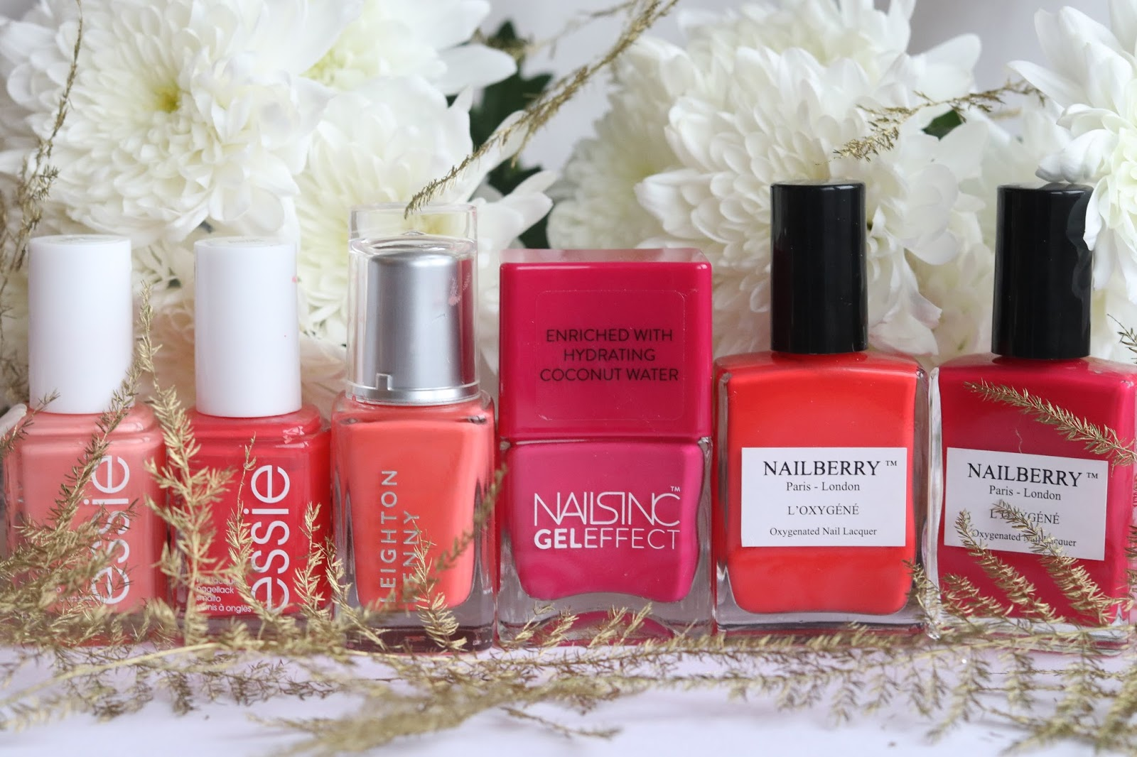 Essie, Leighton Denny, NAILSINC, NAILBERRY, KALANCHOE Beauty
