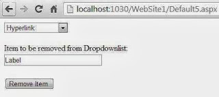 Remove item from dropdownlist using textbox value