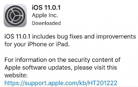 Apple has released iOS 11.0.1 update for the iPhone and iPad