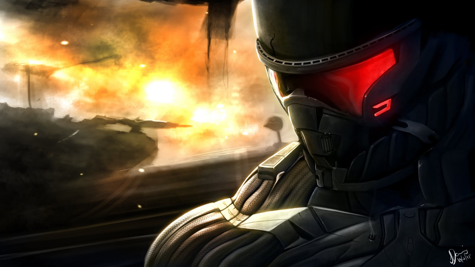 3D Crysis 2 Game...U Name Wallpaper 3d