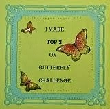 I am a top 3 winner over at Butterfly challenge