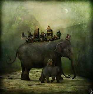 arte digital elefantes