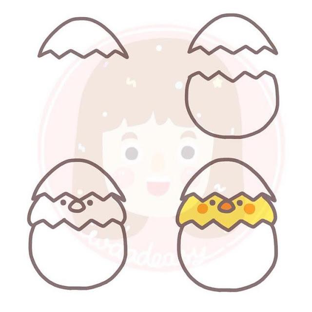 Cara menggambar anak ayam untuk anak-anak