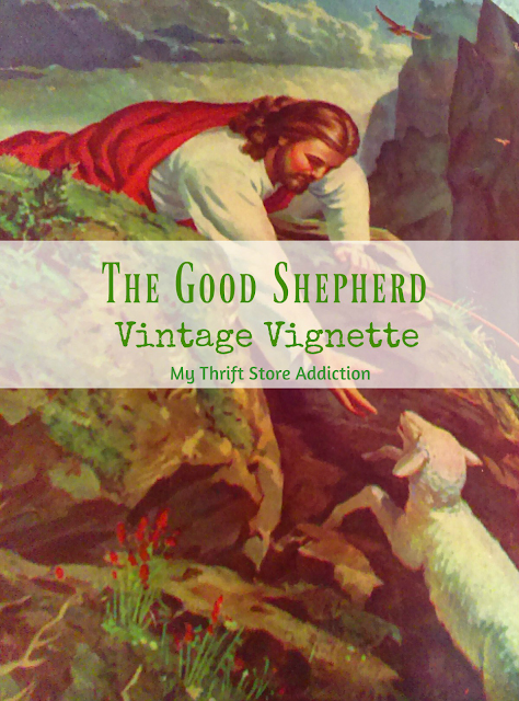 Good Shepherd vintage book vignette