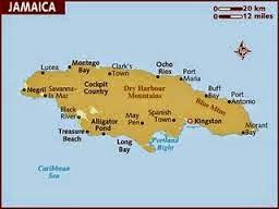 Peta Negara Jamaika