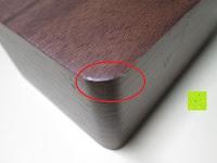 Ecke: kwmobile Wecker Digital Uhr aus Holz mit Geräuschaktivierung, Temperaturanzeige und Tastaktivierung