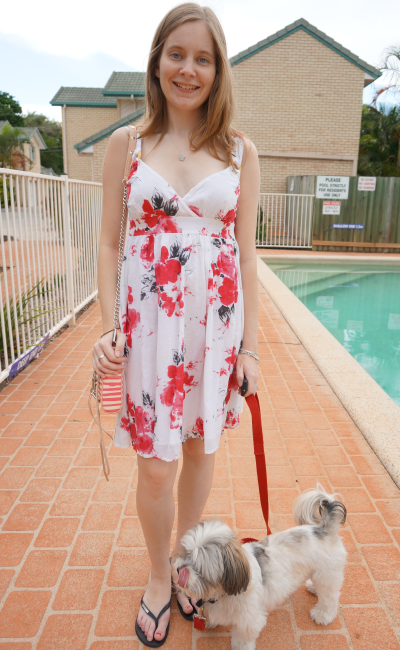 floral print Summer day dress havaianas thongs