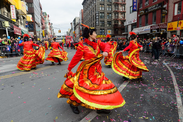 Desfila ano novo lunar em Chinatown