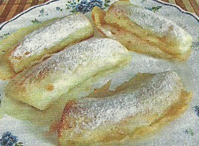 Состав продуктов и способ приготовления бананов в кляре
