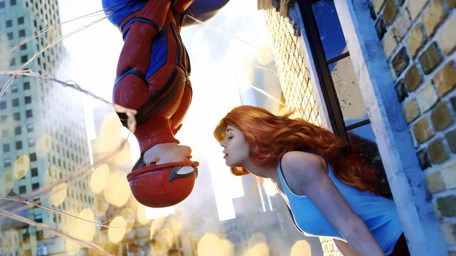 Spider-Man, Mary Jane, Kissing, Marvel, 4K, #249
