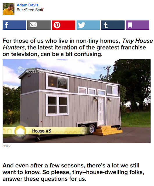 "We Answer BuzzFeed's 41 Questions: ""Dear 'Tiny House Hunters' people..."""