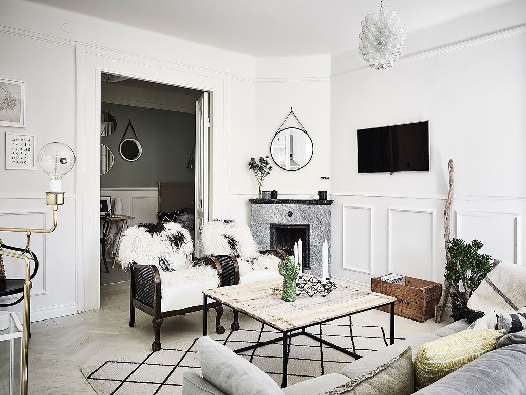 Decorating Ideas Long Narrow Living Rooms Large Wall Art For Room India W Domu Marty: Kuchnia Z Wzorem Jodełkę