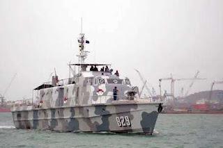 Gambar Kapal perang KRI Tarihu 829 buatan Indonesia