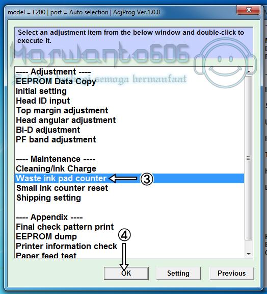 Cara Reset Printer Epson L200