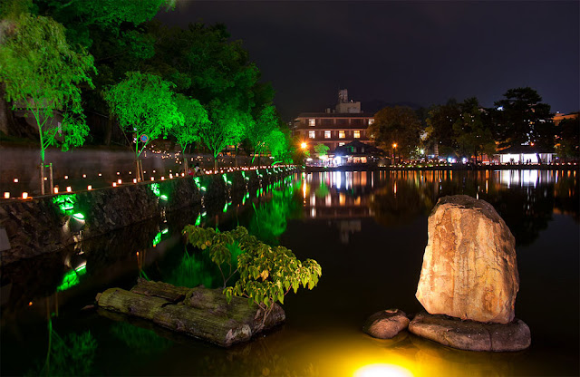 Light-up Promenade in ancient city of Nara