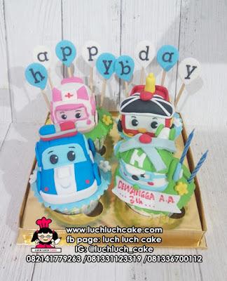 Cupcake Robocar Poli Lucu